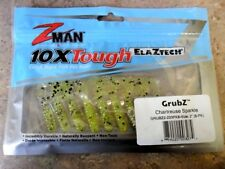 """Z-man GrubZ 2"""" - Chartreuse Sparkle, Z man soft plastic lures"""