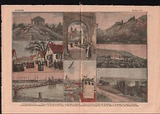 Abbaye de Murbach Guebwiller Buhl Cigognes Sélestat Alsace 1919 ILLUSTRATION