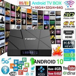 Smart TV BOX Android 10.0 4G 32/64GB Quad Core 4K Media Player Upgrade 2020 NEW