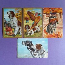 "Swap cards vintage dogs - 4 ""HUNTING DOG"" SWAPCARDS  - EXC CONDITION"