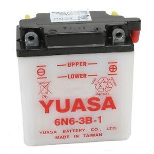 Batterie Moto Yuasa 6N6-3B-1 6V  6Ah pour  Honda CB 125 S , 1981 - 1985