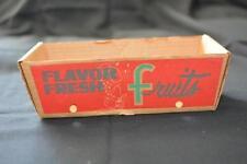 1960s Vintage Cardboard FRUIT Picking Basket Display Rustic Country Decor Ad