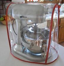 CLEAR MIXER COVER fits KitchenAid Bowl Lift Mixer - RED Trim - (5-6 Qt.)