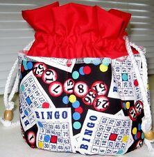 Bingo Bag  RED top  8 pockets