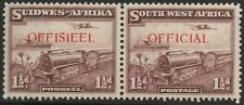 More details for south west africa-1938 1½d purple-brown official sg o17 mounted mint v37583