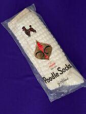 Rare Vintage Poodle, Popcorn Socks by Athens Original Package Ships Free White