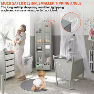 5 Set Anti-Tip Furniture Anchor Straps Safe Wall Anchors for Baby Kids Proofing