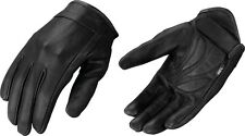 Milwaukee Leather Motorcycle Riding Glove w/ Stretch, Gel Palm & Shorter Wrist