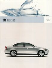 Volvo S40 Specification 2005-06 UK Market Brochure S SE Sport