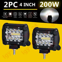 "2X 4"" Led Work Light Bar Pods Combo Cube Driving Fog GZ For Off-Road Tractor UTE"
