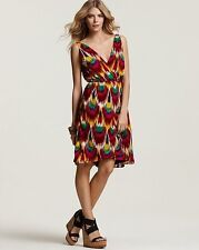 ALICE + OLIVIA 'Alameda' Ikat Printed Pleat Dress ASO Celebrity Size S NWT $368