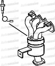VW Polo 1.4 Bud 80B Hat 06-09 Exhaust Catalytic Converter Spare Part Replace