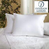 """(2 Pillows) King Size: 20""""x36"""" 60oz. White Goose Down Bed Pillows"""