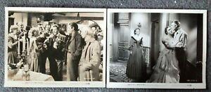 LOT OF 2 ORIGINAL LOBBY CARDS MAN IN THE SADDLE Randolph Scott 1952 Western
