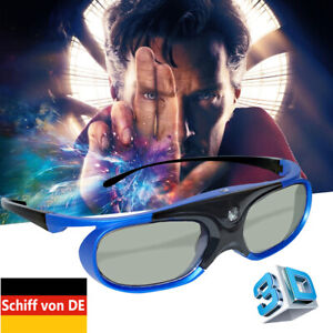 3x Aktive Shutter 3D Brille für Acer/Mitsubishi/Optoma/Vivitek/NEC/BenQ Beamer