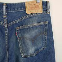 LEVI'S 513 Mens Size 35 Blue Slim Straight Leg Denim Jeans