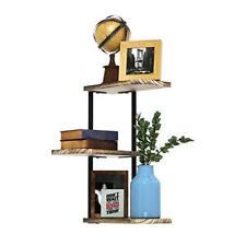 Love-KANKEI Corner Shelf Wall Mount of 3 Tier Rustic Wood Floating Shelves ...