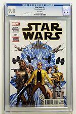 STAR WARS # 1 Regular Cover CGC 9.8 Marvel 2015