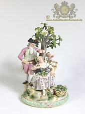 """Seltene Meissen Figur Baumgruppe """" Drei Figuren unter einem Apfelbaum """""""