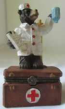 DOCTOR BEAR TRINKET BOX - DCI 2003 - COMPLETE WITH INSTRUMENTS