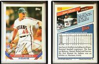Jose Mesa Signed 1993 Topps #696 Card Cleveland Indians Auto Autograph
