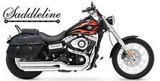 SADDLELINE HARLEY-DAVIDSON DYNA Wide Glide FXDWG  Leather panniers saddlebags