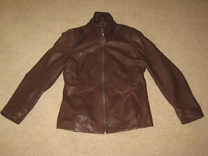 dp dellatore womens soft real leather jacket size eu 36