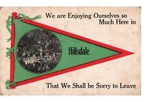 Postcard Enjoying Ourselves in Hillsdale, Michigan Postmark 1913.