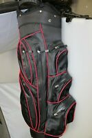 C360 Navy Blue Red Trim Golf Trolley/Cart Bag 14 Way Divider Waterproof Zips New