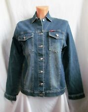 Ladies MISS SIXTY button front blue stonewashed denim jacket sz 31 great co