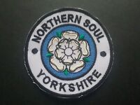 MOD SOUL SCOOTER PARKA MUSIC SEW / IRON ON PATCH:- NORTHERN SOUL (a) YORKSHIRE