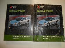 2000 MITSUBISHI ECLIPSE Service Repair Shop Manual 2 VOLUME SET WATER DAMAGED 00