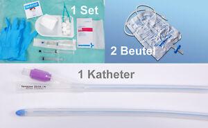 Silikon Katheter 12-22 CH, Katheterset Wechselset, 2 Beutel, Octenisan/Gleitmit.