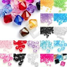 Acrylic Transparent Beads Faceted Spacer Loose Jewelry Makings 4/8/10/12mm