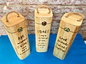 Personalised Wooden Wine Box   Birthday Anniversary Congratulations Celebration