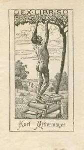Ex libris Erotic art deco Exlibris by Unidentified artist / Austria