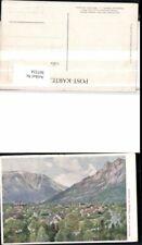 307324,Künstler AK Hugo Darnaut Reichenau Totale m. Rax Feuchter Bergkulisse