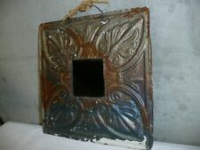 """Vintage Antique Tin Ceiling Frame 12"""" x 12"""" Outside 3-1/2"""" x 3-1/2"""" Opening"""