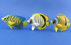 3x Schleich Korallenfische 16251 16253 16256 - Kaiserfisch Falterfisch - Fische