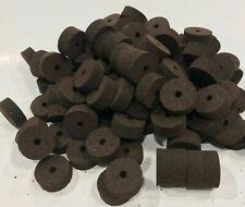 "Cork Rings 54 Superior Burnt Burl 1 1/4"" X 1/2 ""X1/4"", Solid Dark Color!"