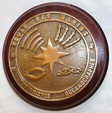 Tape de Bouche Marine ECOLE DES MARINS MÉTÉOROLOGISTES OCÉANOGRAPHES Bronze