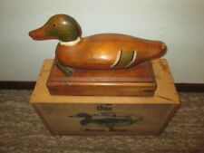 One Mason Decoy Antique Wooden Box with Duck Decoy