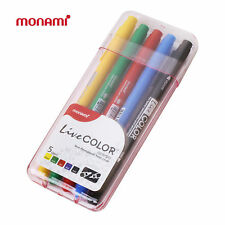 MONAMI LIVE COLOR Double-Sided Pen 5colors 1set