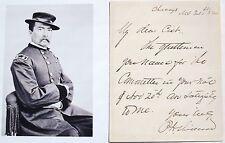 General Philip Sheridan Prominent Union General Civil War Autograph Letter Rare
