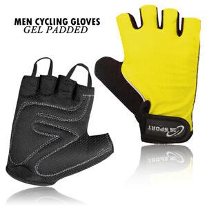 Cycling Gloves Men Bike Half Finger Gel Padded Fingerless Gloves (High Quality)