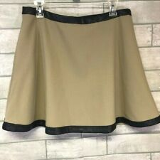 Banana Republic A-line skirt faux leather detail pockets fully lined size 12