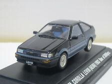 Toyota Corolla Levin AE86 Apex Twincam RHD 1983 black / grey 1/43 EBBRO Japan