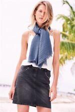 next Washed Black Studded Denim Skirt size 12 new
