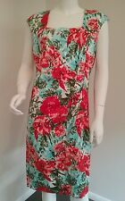 Ladies Beautiful Floral Jacqui E dress size 12 dress formal wedding office work