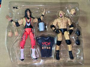 Mattel WWE Elite BRET HART & GOLDBERG 2 Pack No WCW US Title Belt LOOSE